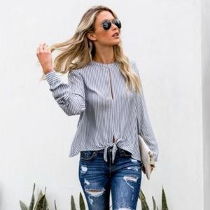 Vici Collection Striped Top